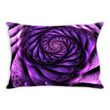 Surreal Magenta Flower Throw Pillow