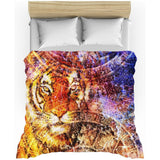 Majestic Tiger Head All-Over Print Duvet Cover