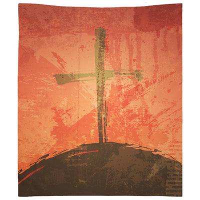 The Illustration of Crucifixion Wall Tapestry