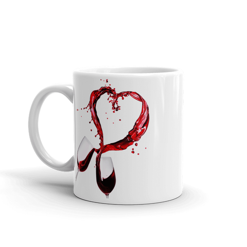 Heart Splash from Couple's Wines 11 oz. Ceramic Mug
