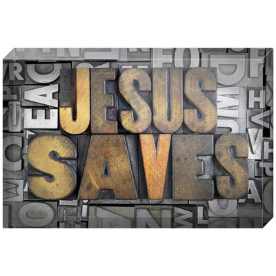 Jesus Saves Letterpress Acrylic Block