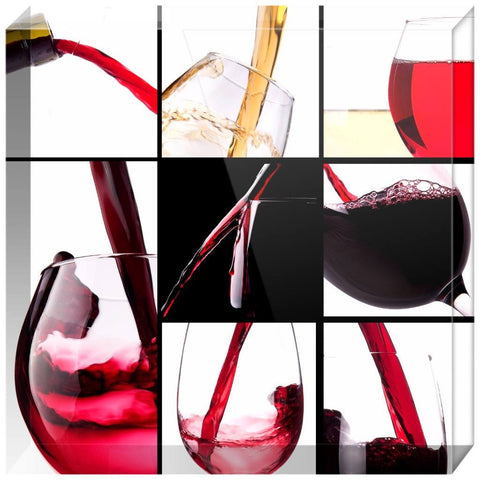 Luxurious Wine Collection Acrylic Block