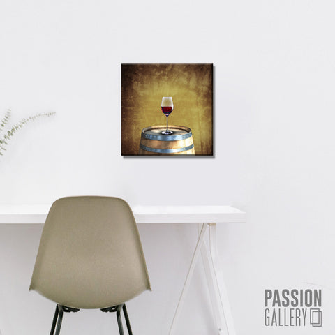 A Glass of Red Wine 1 Piece Canvas Wall Art Decor