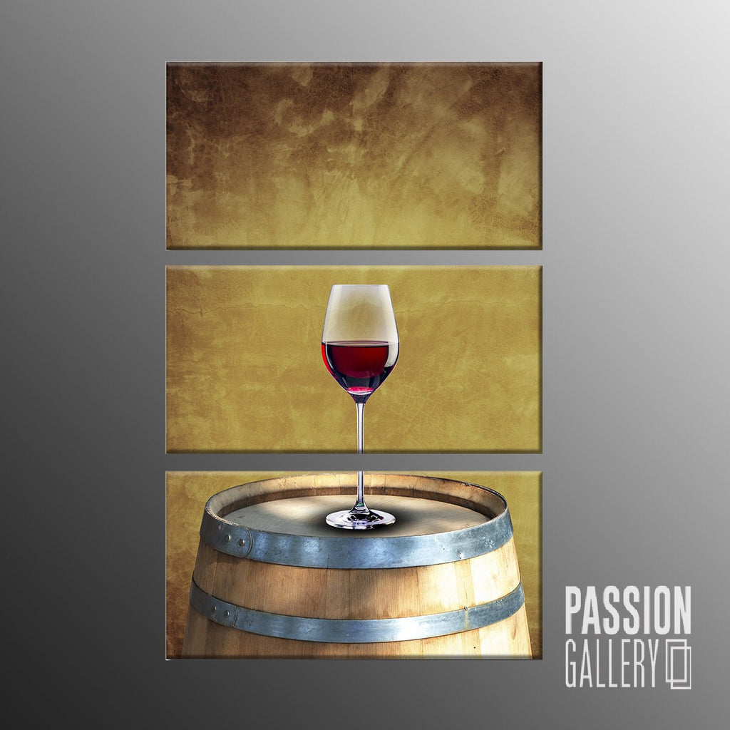 A Glass of Red Wine 3 Piece Canvas Wall Art Decor – PassionGallery