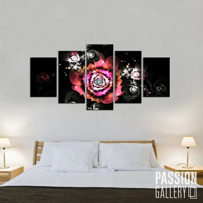 A Reverie of Flowers 5 Piece Canvas Wall Art Decor