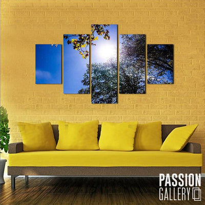 A Touch of Sunlight 5 Piece Canvas Wall Art Decor