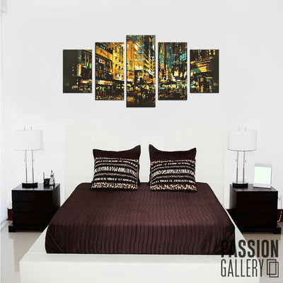 Abstract Nightlife 5 Piece Canvas Wall Art Decor