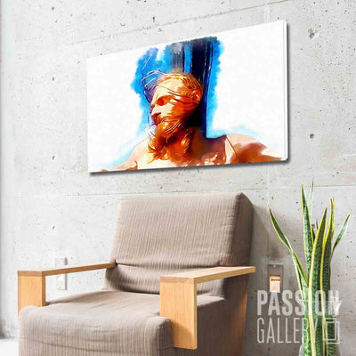 Artistic Portrait of Jesus 1 Piece Canvas Wall Art Decor