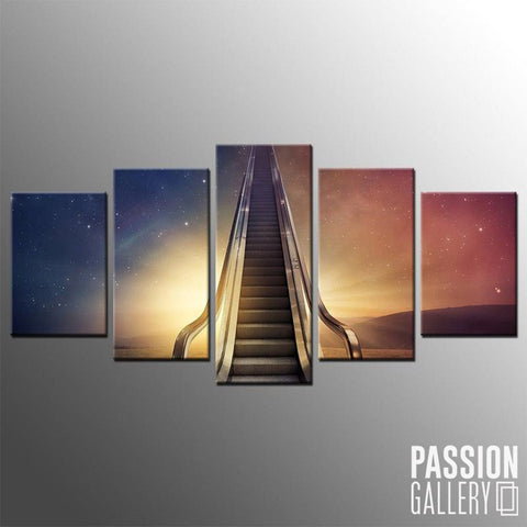 Ascending to the Sky 5 Piece Canvas Wall Art Decor