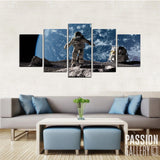 Astronaut Exploration 5 Piece Canvas Wall Art Decor