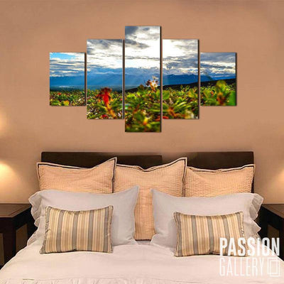 Clear Sunlit 5 Piece Canvas Wall Art Decor