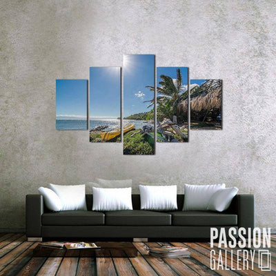 Cottage by the Bay 5 Piece Canvas Wall Art Decor
