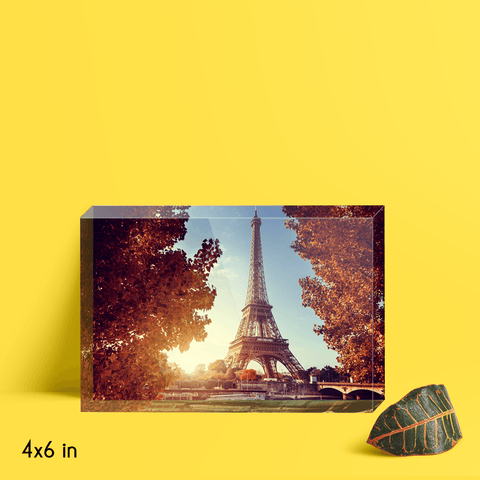 Eiffel Tower in Autumn Acrylic Block