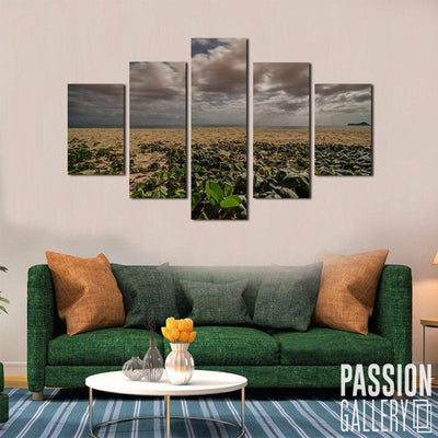 Gloomy Clouds in the Sand 5 Piece Canvas Wall Art Decor