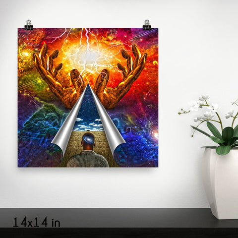 Mystery of Universe Premium Luster Wall Art Poster