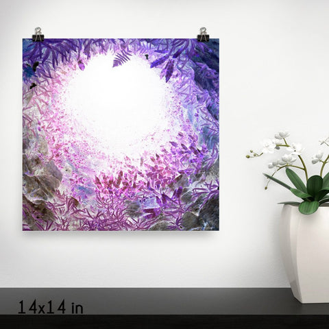 Surreal Bottom View Premium Luster Wall Art Poster