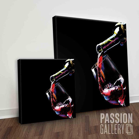 Pouring Lucsious Red Wine 1 Piece Canvas Wall Art Decor