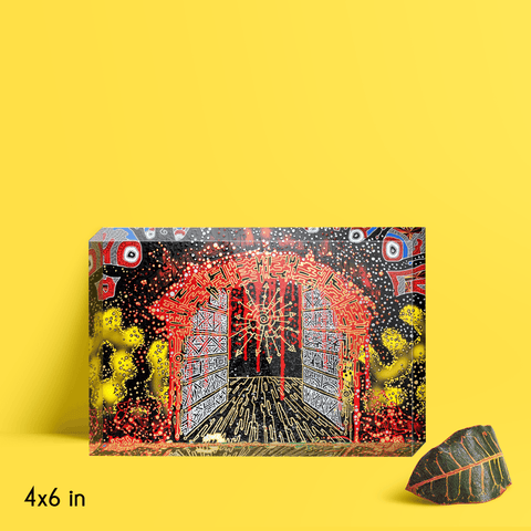 Esoteric Pathway Illustration Acrylic Block
