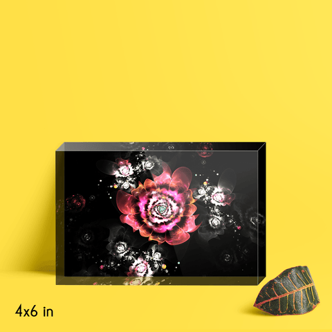 A Reverie of Flowers Acrylic Block