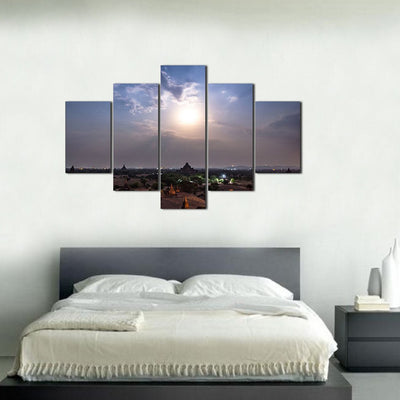 Late Afternoon Sun 5 Piece Canvas Wall Art Decor