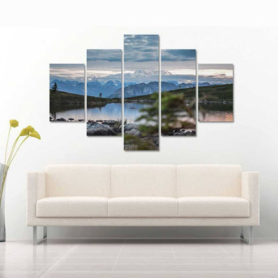 Lake View 5 Piece Canvas Wall Art Decor