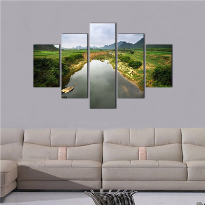 Green River Valley 5 Piece Canvas Wall Art Decor