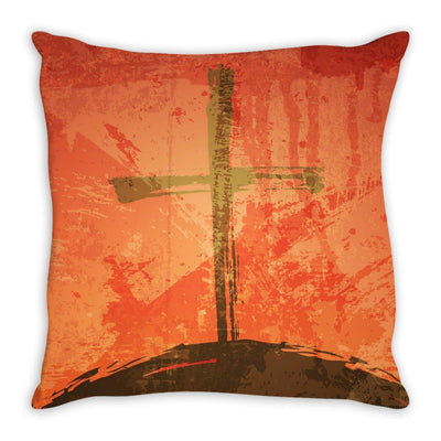 The Illustration of Crucifixion Throw Pillow