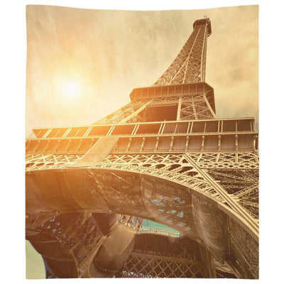 Sunset at Eiffel Tower Wall Tapestry