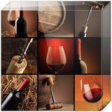 Elegant Wine Collage Acrylic Block