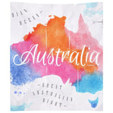 Australia Watercolored Map Wall Tapestry