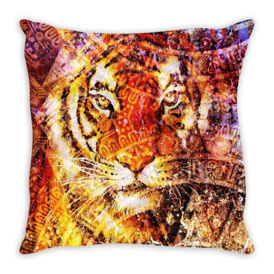 Majestic Tiger Head Throw Pillow