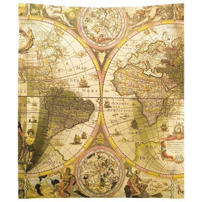 Antique World Map Wall Tapestry