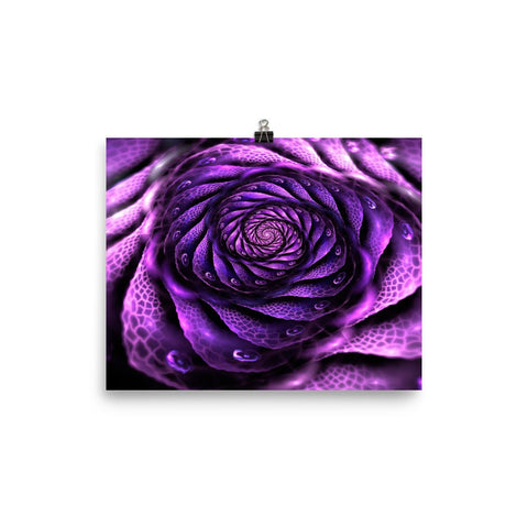 Surreal Magenta Flower Enhanced Matte Wall Art Poster