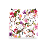 Blossoming Dream Catchers Premium Luster Wall Art Poster