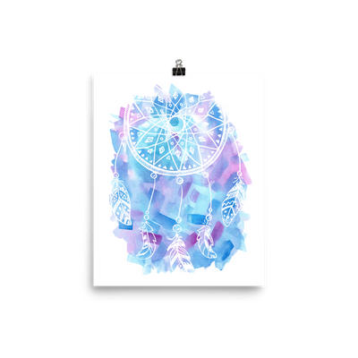 Hand Drawn Dream Catcher Premium Luster Wall Art Poster