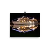Grandeur Cruise Ship Reflection Premium Luster Wall Art Poster