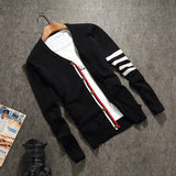 Mens Cool Arm Design Cardigan Sweater