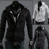 Mens Edgy Zip-Up Hoodie