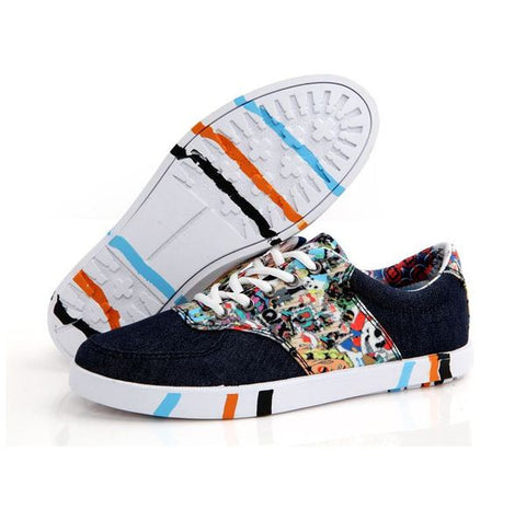 Mens Cool Graphic Canvas Style Shoes