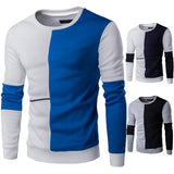 Mens Half and Half Color Pullover Sweater