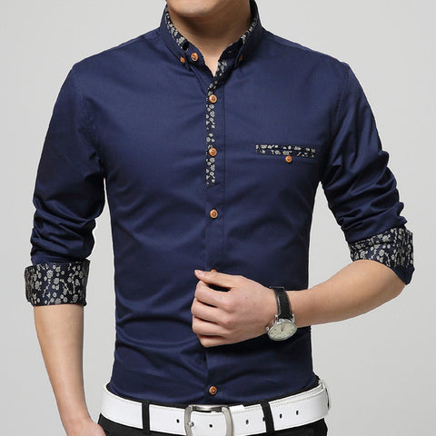 mens edgy outline design dress shirt mens fashion factory