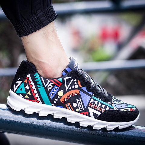 Mens Trendy Art Running Sneakers