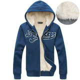 Mens Zip-Up Cotton Hoodie