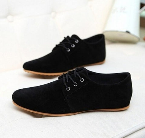 Mens Spring Autumn Fashion Flats Casual Suede Shoes Comfortable Breathable Flats Driving Loafers