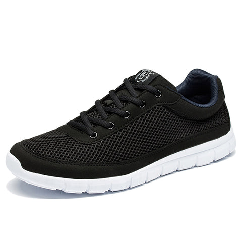 Mens Casual Breathable Lace-Up Walking Spring Lightweight Comfortable Walking Shoes