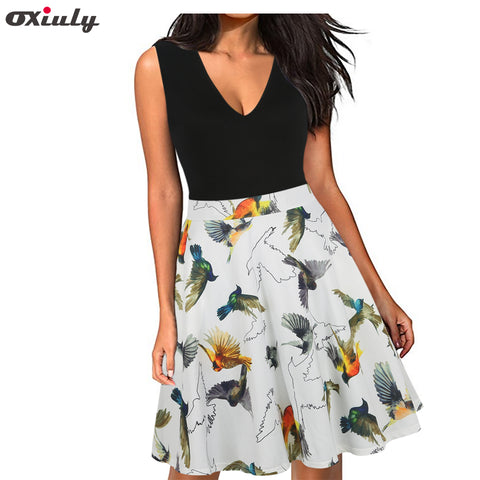 Womens Deep V-neck Sexy Boho Summer Party Mini Floral Casual Natural Beach Patchwork Pockets Dress
