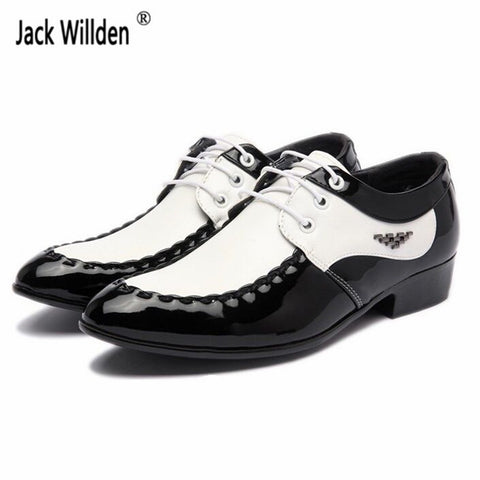 Mens Fashion Leather Lace-Up Dress Office Shoes Wedding Party Business Flats
