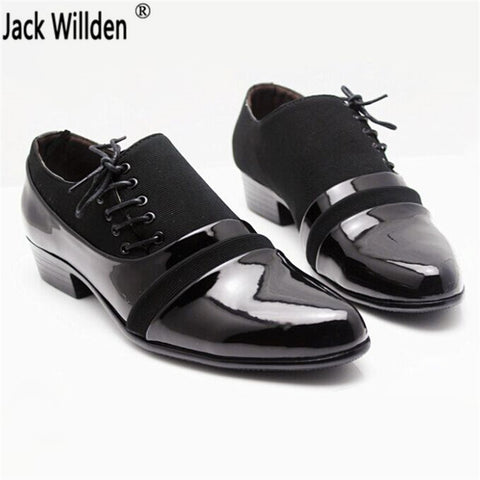 Mens Fashion PU Leather Lace-up Dress Business Shoes