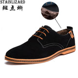 Mens Boots Solid velvet Fashion Winter Boots Lace-up Round Toe Men Casual Shoes