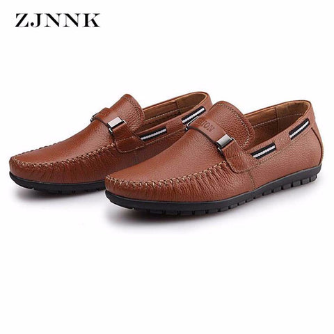 a9762c9deb08e5 Mens Cow Leather Loafers Driving Boat Fashion Moccasins Soft Sole Leather Casual  Shoes
